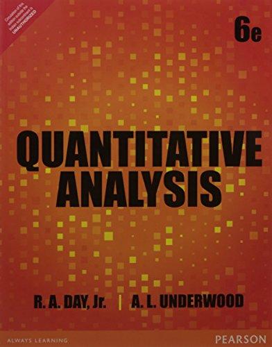Quantitative Analysis (Sixth Edition): R.A. Day, Jr.,A.L.