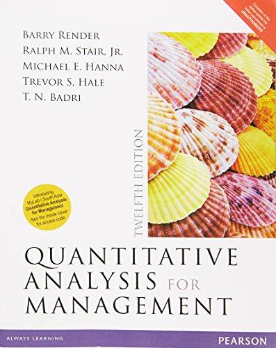 9789332568853: Quantitative Analysis For Management 12 Ed