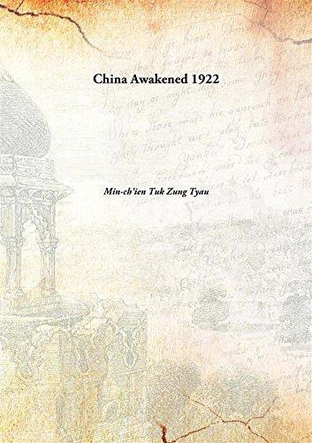 China Awakened 1922 [Hardcover]: Min-ch'ien Tuk Zung