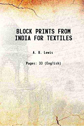9789332820562: Block prints from India for textiles