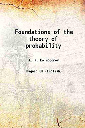 9789332852983: Foundations of the theory of probability