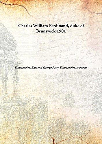 9789332854147: Charles William Ferdinand, duke of Brunswick