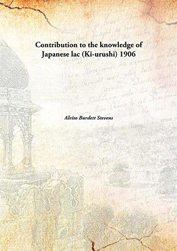 9789332855090: Contribution to the knowledge of Japanese lac (Ki-urushi)