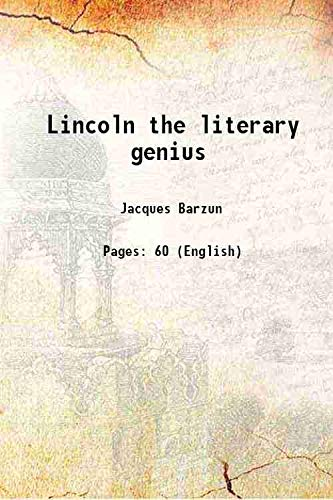 9789332857261: Lincoln, the literary genius