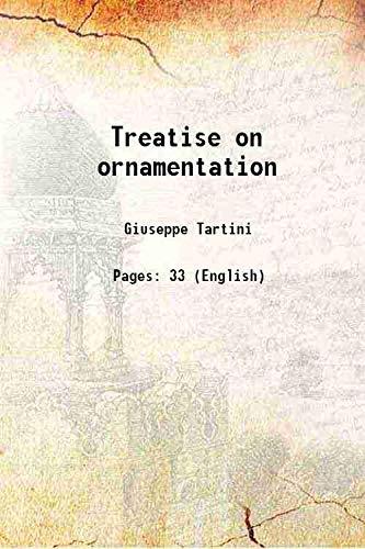 9789332857728: Treatise on ornamentation;