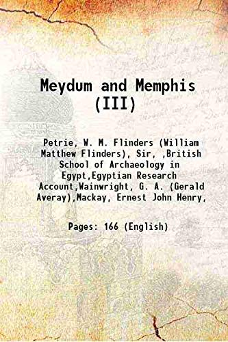 9789332859333: Meydum and Memphis (III)