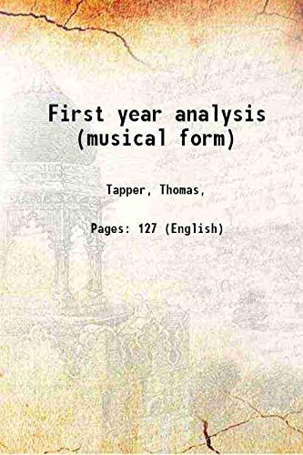 9789332860513: First year analysis (musical form)