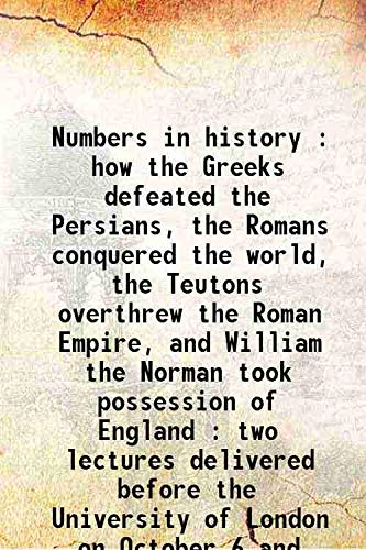 Numbers in history : how the Greeks: Delbruck, Hans,