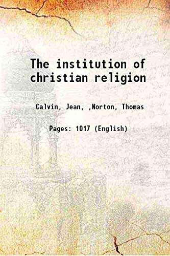 9789332866607: The institution of christian religion