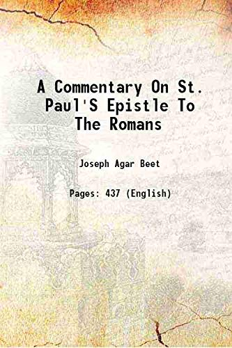 9789332870154: A commentary on St. Paul's epistle to the Romans