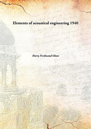 9789332871052: Elements of acoustical engineering
