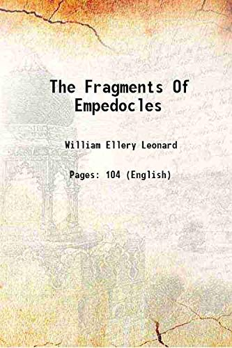 9789332875876: The Fragments Of Empedocles