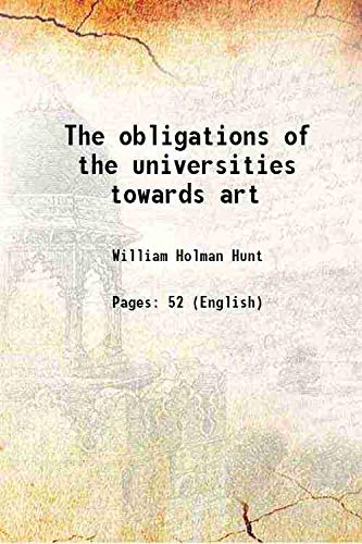 9789332879232: The obligations of the universities towards art