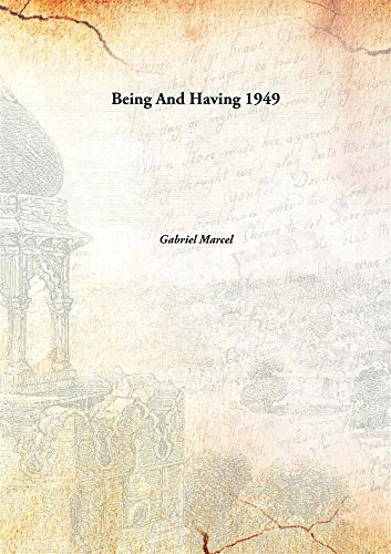 9789332885639: Being And Having