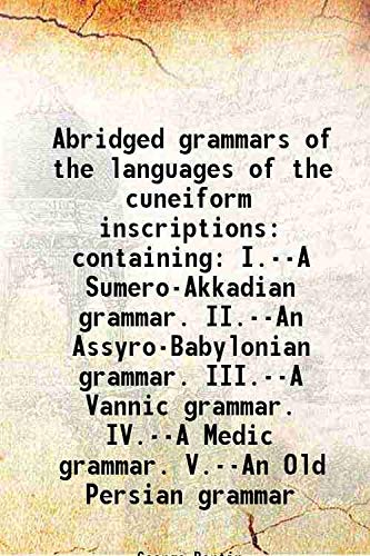 Abridged grammars of the languages of the: George Bertin