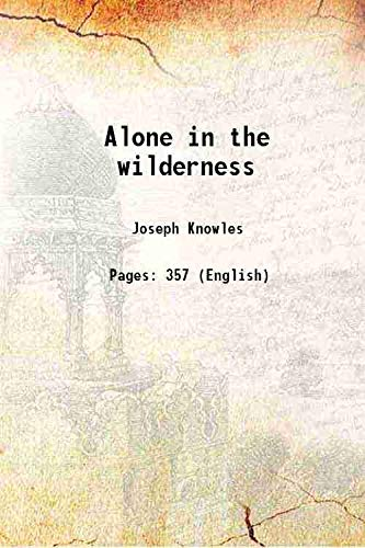 9789332897250: Alone in the wilderness