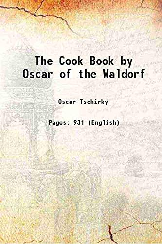 The Cook Book by Oscar of the