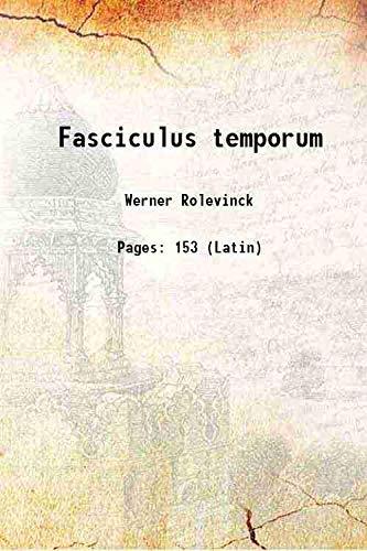 Fasciculus temporum 1480