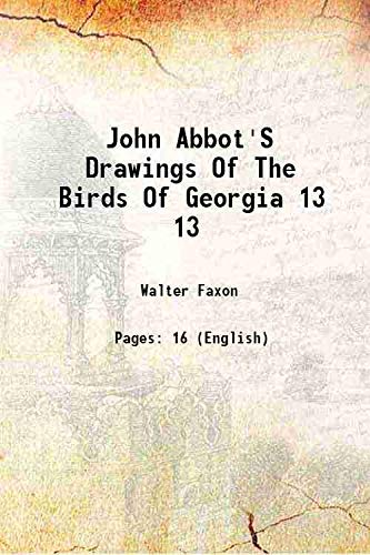 John Abbot's Drawings of the Birds of