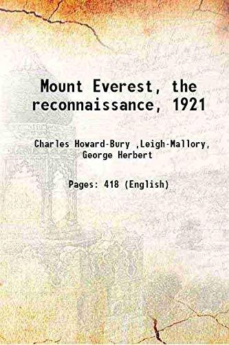 9789333105262: Mount Everest, the reconnaissance, 1921