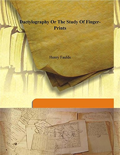 9789333112963: Dactylography or The study of finger-prints