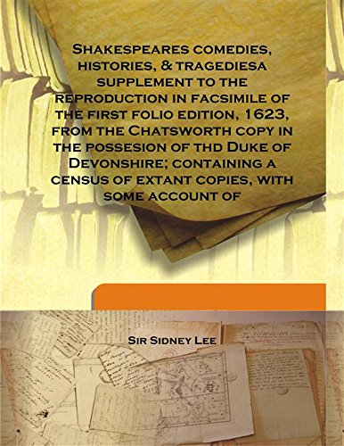 Shakespeares comedies, histories, & tragediesa supplement to