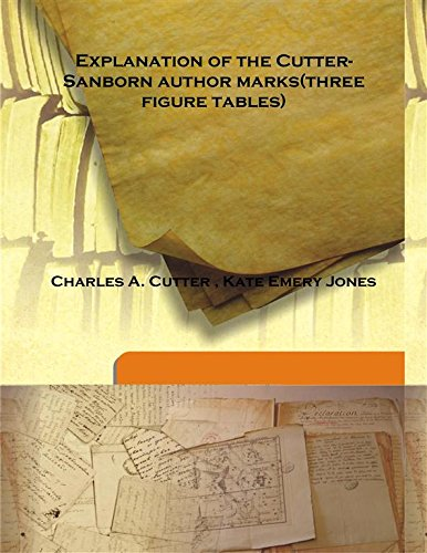 Explanation of the Cutter-Sanborn author marks(three figure