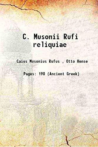 9789333138697: C. Musonii Rufi reliquiae