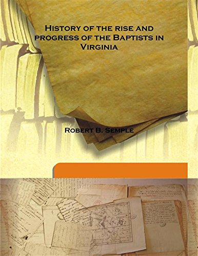 9789333139168: History of the rise and progress of the Baptists in Virginia