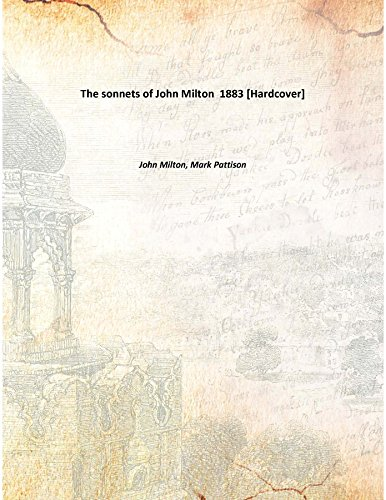 9789333141161: The sonnets of John Milton