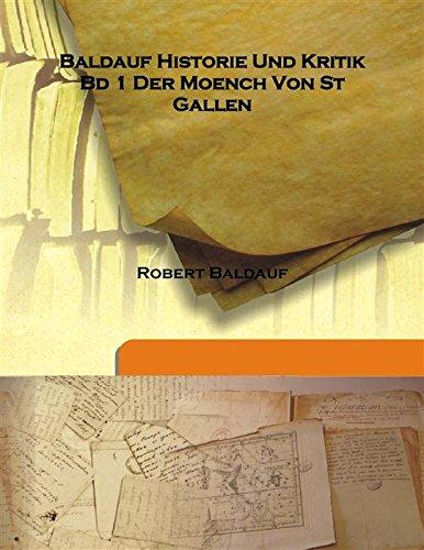 Baldauf Historie Und Kritik Bd 1 Der: Robert Baldauf