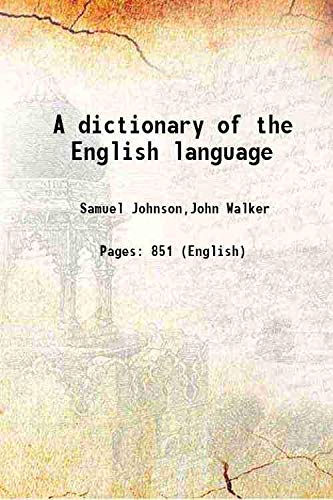 9789333158589: A dictionary of the English language