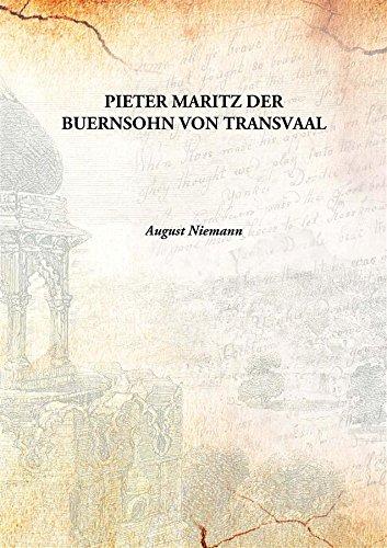 9789333164184: PIETER MARITZ DER BUERNSOHN VON TRANSVAAL [Hardcover]