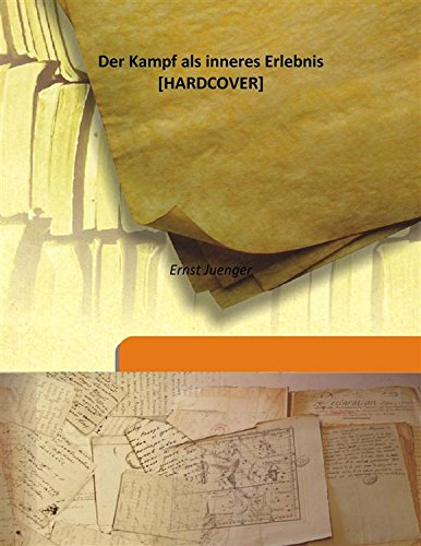 9789333167116: Der Kampf als inneres Erlebnis 1943 [Hardcover]