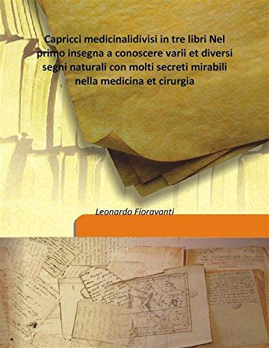 Capricci medicinali divisi in tre libri Nel: Leonardo Fioravanti