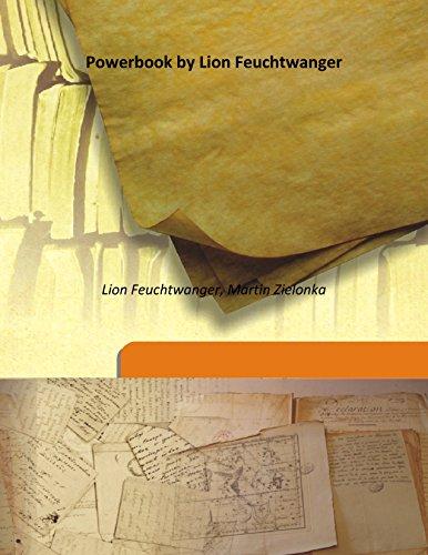 Power book by Lion Feuchtwanger [HARDCOVER]: Lion Feuchtwanger, Martin