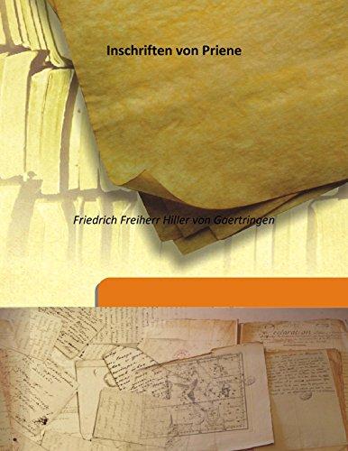 9789333176200: Inschriften von Priene