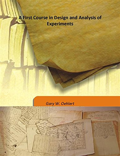 9789333183468: A First Course in Design and Analysis of Experiments [Hardcover]