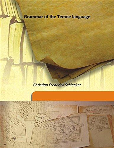 9789333187930: Grammar of the Temne language