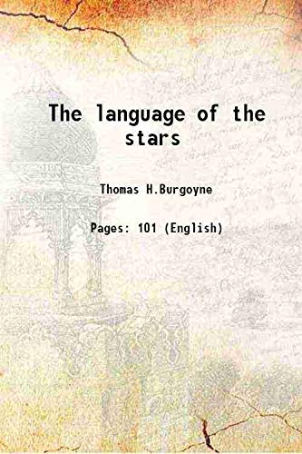 9789333303866: The language of the stars 1897 [Hardcover]