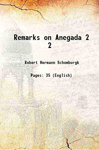 9789333312585: Remarks on Anegada Vol: 2 1832 [Hardcover]