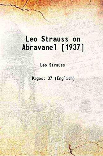 9789333313537: Leo Strauss on Abravanel [1937] [Hardcover]