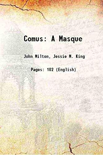 9789333314268: Comus A Masque 1906 [Hardcover]