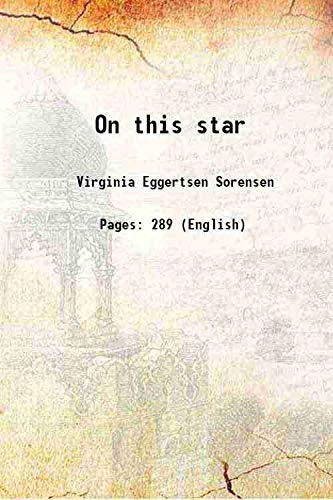 9789333315685: On this star 1946 [Hardcover]