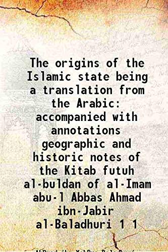 The origins of the Islamic state being: AhÐmad ibn YahÐya