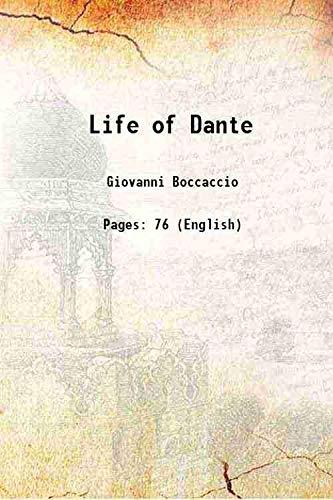 9789333320399: Life of Dante 1904 [Hardcover]