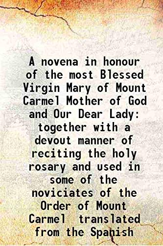 A novena in honour of the most: Anonymous