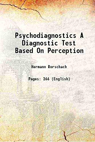 9789333328180: Psychodiagnostics A Diagnostic Test Based On Perception [HARDCOVER]