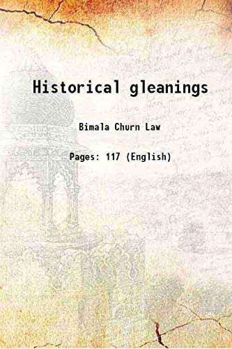 9789333328678: Historical gleanings 1922 [Hardcover]