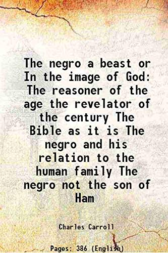 The negro a beast or In the